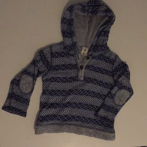 Tucker and Tate hooded sweater with elbow patches